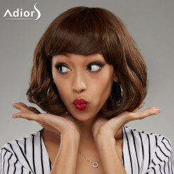 Adiors Short Shaggy Side Bang Wavy Bob Synthetic Wig