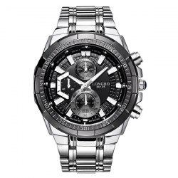 Multifunction Metal Waterproof Analog Watch