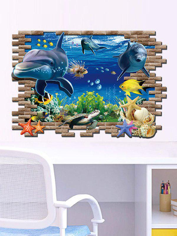 3D Sea World Toilet Decoration Wall StickersHOME<br><br>Color: COLORMIX; Wall Sticker Type: 3D Wall Stickers; Functions: Decorative Wall Stickers; Theme: Cartoon; Material: PVC; Feature: Removable; Size(L*W)(CM): 90*60; Weight: 0.260kg; Package Contents: 1 x Wall Stickers;