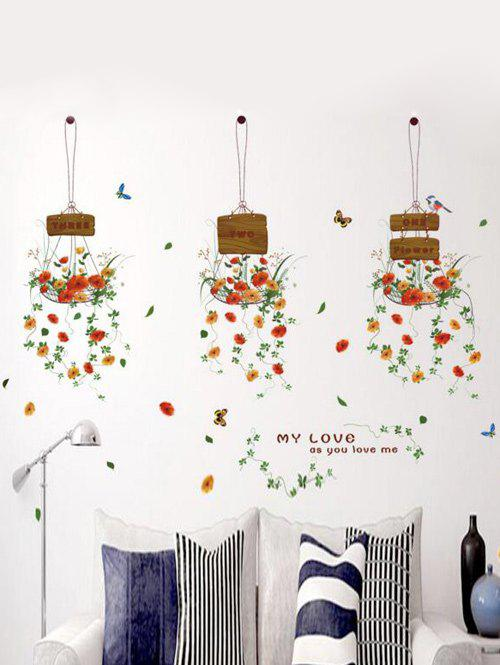 Shop Hanging Flowers Removable Home Window Decor Wall Stickers