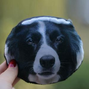 3D Dog Print Coin Purse - Black