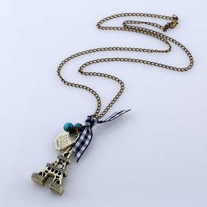 Pull Chain Eiffel Tower Perles noeud papillion -