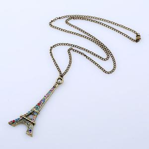 Rhinestone Eiffel Tower Sweater Chain -