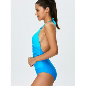 Ombre Halter Shaping One Piece Swimwear -