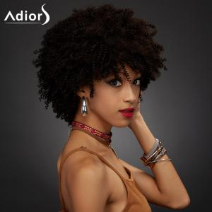 Adiors Short Full Bang Towheaded Curly Synthetic Wig