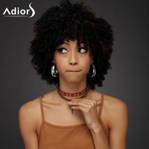 Adiors Short Oblique Bang Towheaded Curly Synthetic Wig