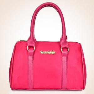 Fashion Solid Color and Metal Logo Design Women's Shoulder Bag -