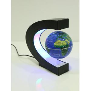 Decoration Craft Floating C Shape Magnetic Globe With LED Light -