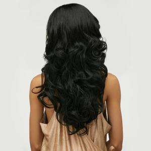 Long Side Bang Body Wave Front Lace Human Hair Wig -
