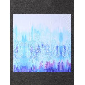 Printed Tie-Dye Rectangle Beach Throw