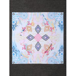 Colored Printed Rectangle Beach Throw