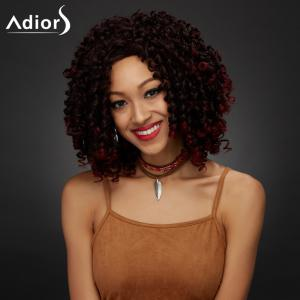 Medium Shaggy Curly Synthetic Wig - COLORMIX