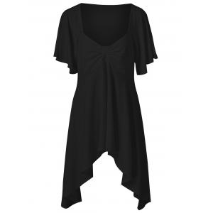 Butterfly Sleeve Asymmetrical Plus Size Tee