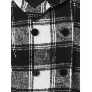 Plus Size Plaid Pea Coat -