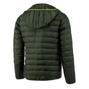 Zip Up Hooded Down Jacket ODM Designer - GREEN 2XL