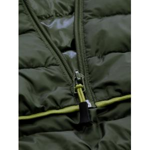Zip Up Hooded Down Jacket ODM Designer - GREEN S