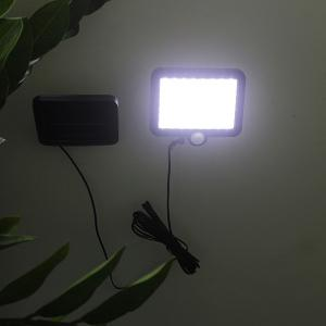Solar Power Sensor LED Courtyard Lawn Wall Night Light - Black