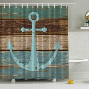 Anchor Print Waterproof Mildewproof Shower Curtain - 180*180cm