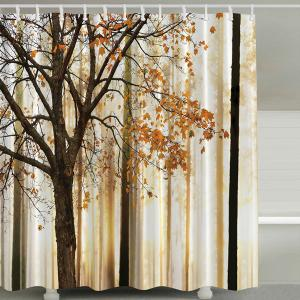Fall Maple Waterproof Shower Curtain with Hook