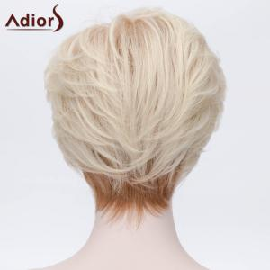 Adiors Short Layered Side Bang Silky Straight Party Synthetic Wig -