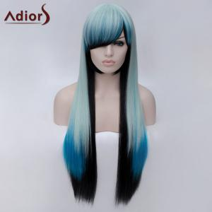 Adiors Long Side Bang Colormix Silky Straight Party Synthetic Wig -