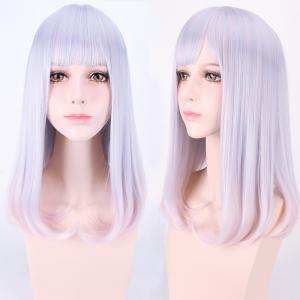 Harajuku Medium Neat Bang Straight Synthetic Cosplay Wig