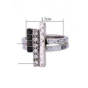 Vintage Rhinestone Ring Set -