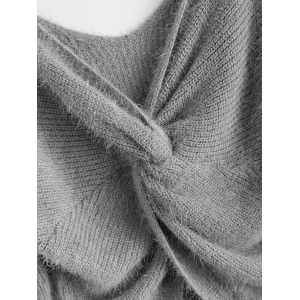 Twisted Back Chenille Sweater -