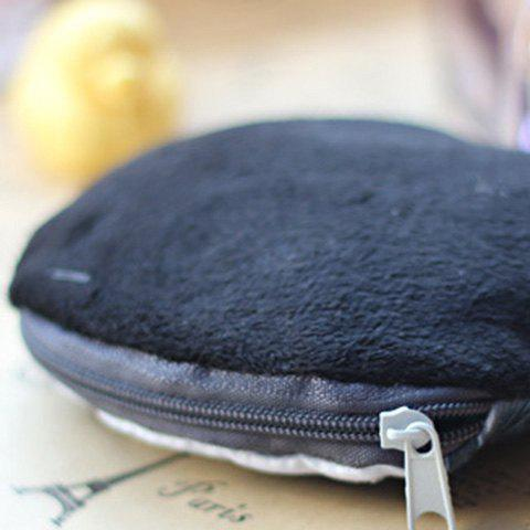 New 3D Dog Print Coin Purse - BLACK  Mobile
