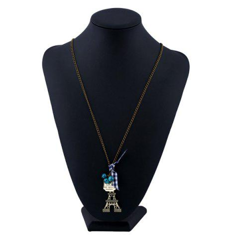 Buy Eiffel Tower Bowknot Beads Sweater Chain - BRONZE-COLORED  Mobile