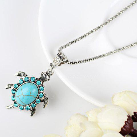 Store Faux Turquoise Tortoise Necklace and Earrings - CYAN  Mobile