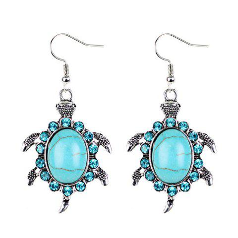 Shops Faux Turquoise Tortoise Necklace and Earrings - CYAN  Mobile