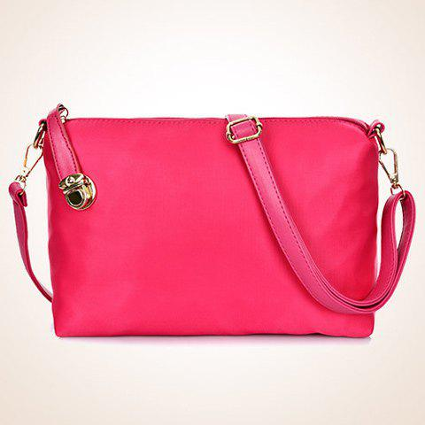 Store Fashion Solid Color and Metal Logo Design Women's Shoulder Bag - ROSE  Mobile