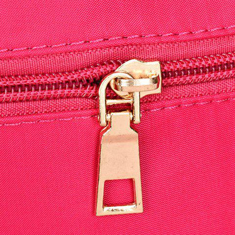 Discount Fashion Solid Color and Metal Logo Design Women's Shoulder Bag - ROSE  Mobile