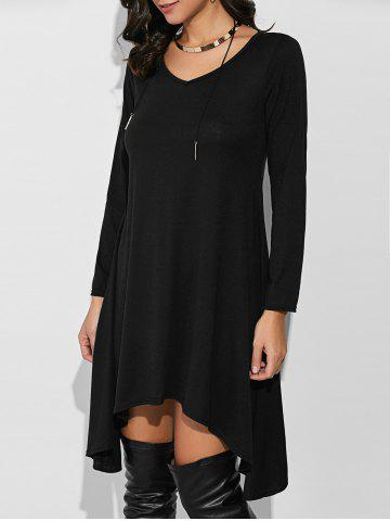 Cheap Loose Asymmetrical T-Shirt Dress With Sleeves