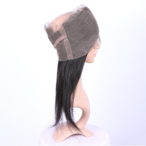 Shops Long Straight 360° Lace Human Hair Wig - BLACK  Mobile
