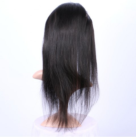 Hot Long Straight 360° Lace Human Hair Wig - BLACK  Mobile