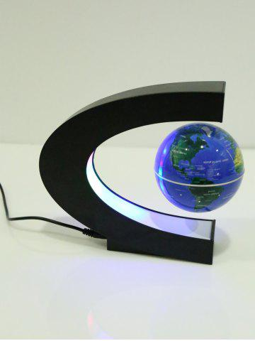 Cheap Decoration Craft Floating C Shape Magnetic Globe With LED Light