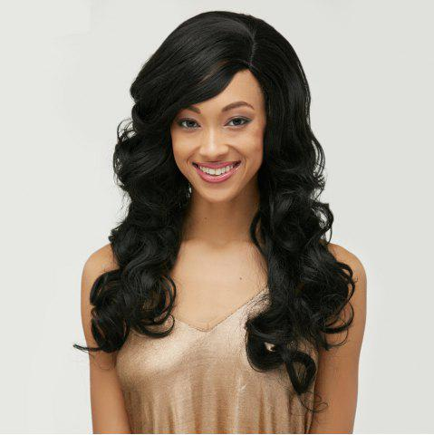 Store Long Side Bang Body Wave Front Lace Human Hair Wig