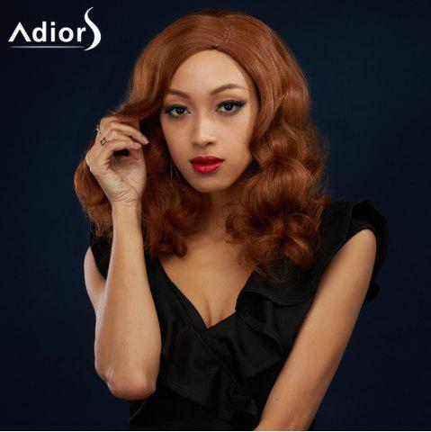 Fashion Long Side Parting Shaggy Wavy Synthetic Wig