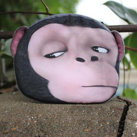3D Cartoon Monkey Painted Coin Purse - Pink