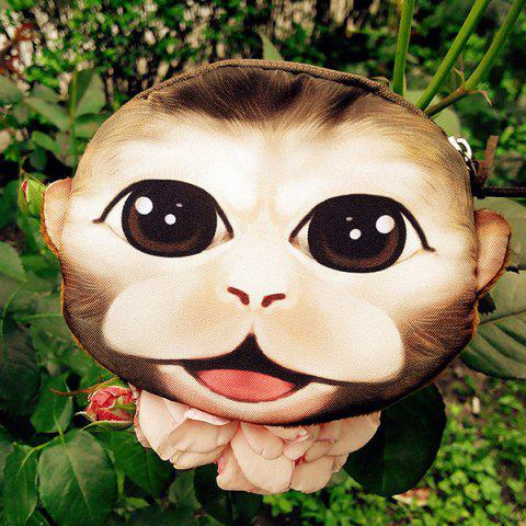 Store 3D Cartoon Monkey Painted Coin Purse