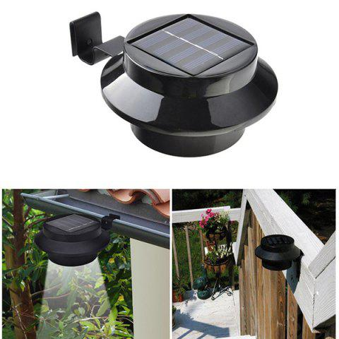 Outdoor Garden Decorative Waterproof LED Solar Courtyard Fence Lamp - Black