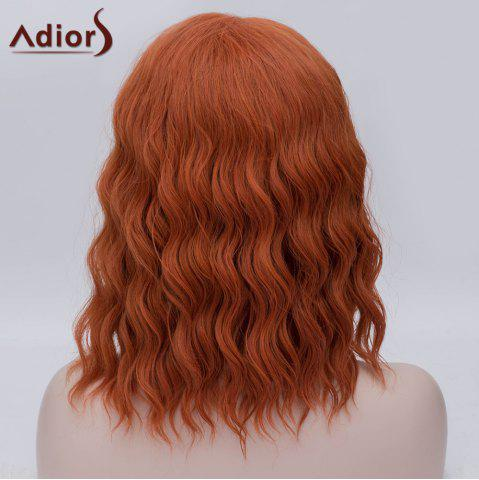 Outfit Adiors Medium Side Parting Fluffy Wavy Party Cosplay Synthetic Wig - ORANGE YELLOW  Mobile