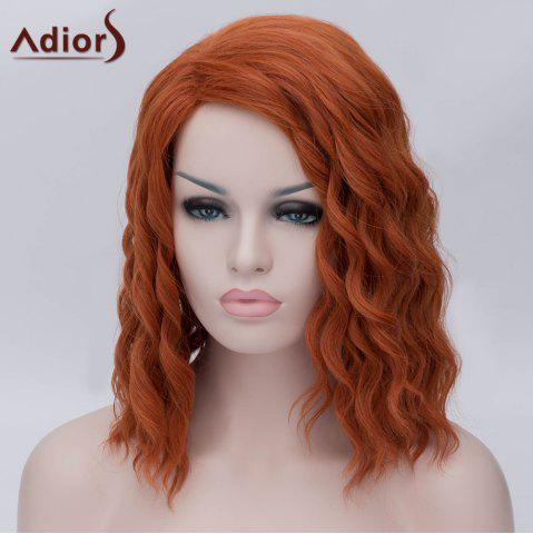 Shops Adiors Medium Side Parting Fluffy Wavy Party Cosplay Synthetic Wig - ORANGE YELLOW  Mobile