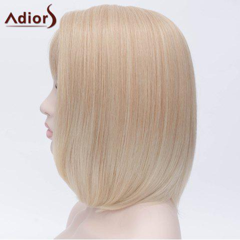Discount Adiors Short Side Bang Silky Straight Bob Party Synthetic Wig - COLORMIX  Mobile