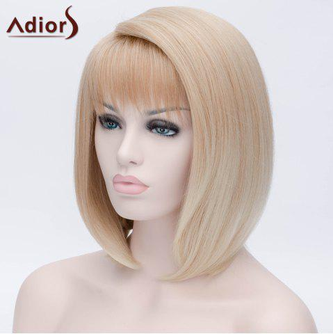 Chic Adiors Short Side Bang Silky Straight Bob Party Synthetic Wig - COLORMIX  Mobile