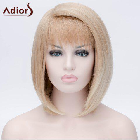 Outfit Adiors Short Side Bang Silky Straight Bob Party Synthetic Wig - COLORMIX  Mobile
