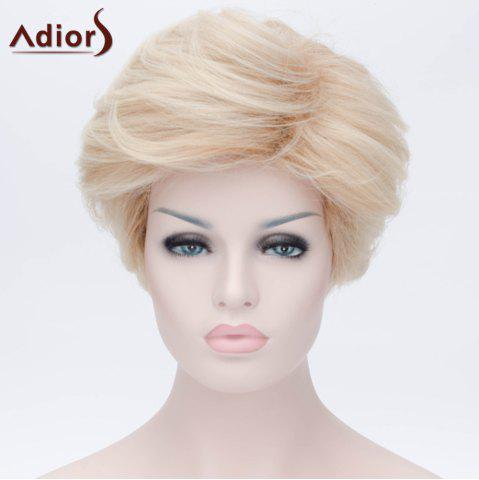 Chic Adiors Short Layered Side Bang Silky Straight Party Synthetic Wig - COLORMIX  Mobile