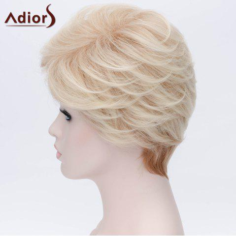 Shop Adiors Short Layered Side Bang Silky Straight Party Synthetic Wig - COLORMIX  Mobile